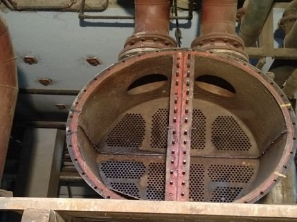 Old Condenser With Scaled Re-tubed